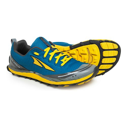 Mens Altra Superior 2.0 Trail Running Shoe - Blue/Canary 10.5
