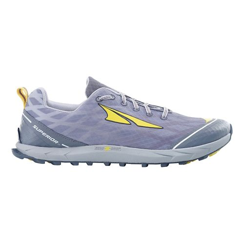 Mens Altra Superior 2.0 Trail Running Shoe - Silver/Cyber Yellow 9