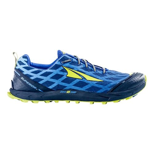 Mens Altra Superior 2.0 Trail Running Shoe - Navy/Lime 9