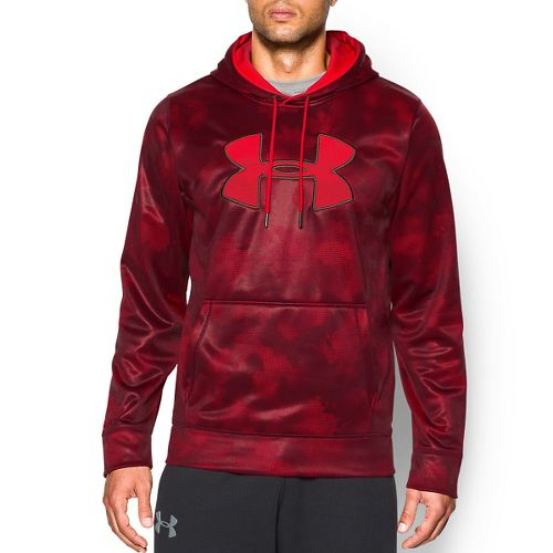Mens Under Armour Storm Armour Fleece Big Logo Printed Hoody Outerwear Jackets - Red XL ...