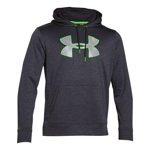 Mens Under Armour Storm Armour Fleece Big Logo Twist Hoodie & Sweatshirts Technical Tops - ...