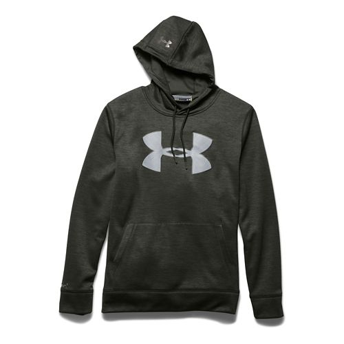 Mens Under Armour Storm Armour Fleece Big Logo Twist Hoodie & Sweatshirts Technical Tops - ...