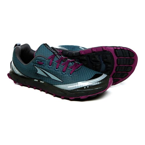 Womens Altra Superior 2.0 Trail Running Shoe - Deep Lake/Berry 5.5