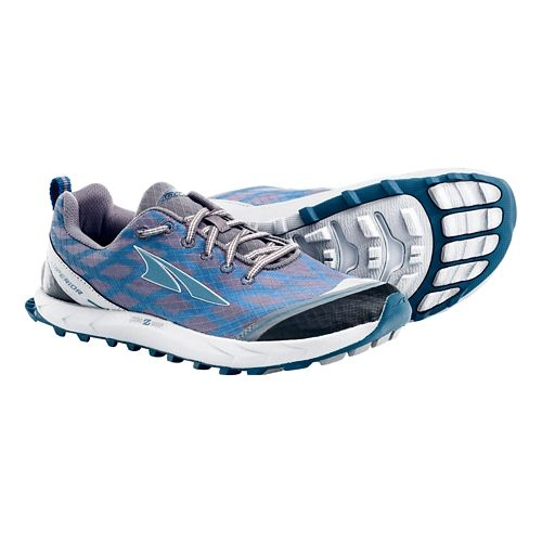 Womens Altra Superior 2.0 Trail Running Shoe - Pewter/Atlantic 5.5