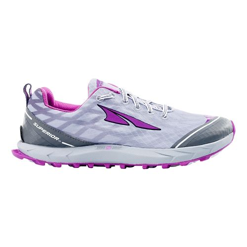 Womens Altra Superior 2.0 Trail Running Shoe - Orchid/Silver 6.5