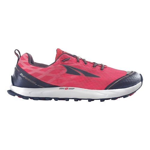 Womens Altra Superior 2.0 Trail Running Shoe - Poppy Red/Chocolate 10