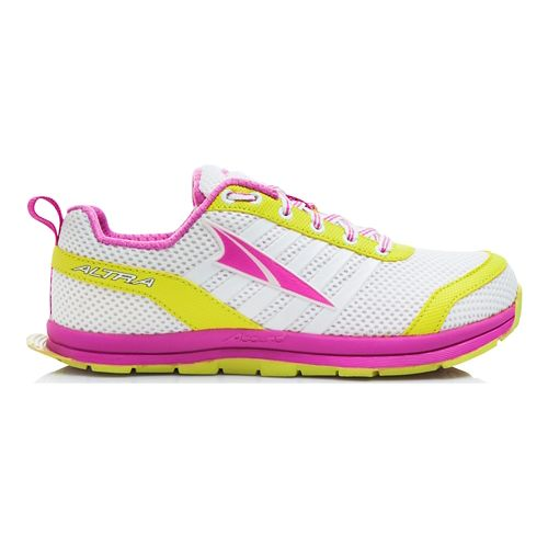 Kids Altra Instinct Jr 1.5 Running Shoe - White/Pink 4.5