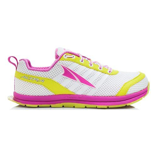 Kids Altra Instinct Jr 1.5 Running Shoe - White/Pink 4Y