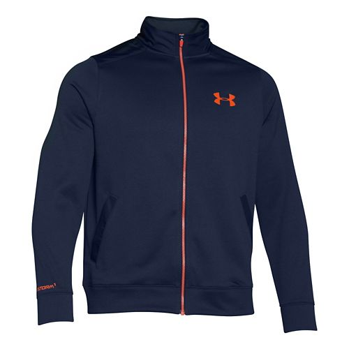 Mens Under Armour Storm Armour Fleece Marauder Outerwear Jackets - Academy/Orange XL