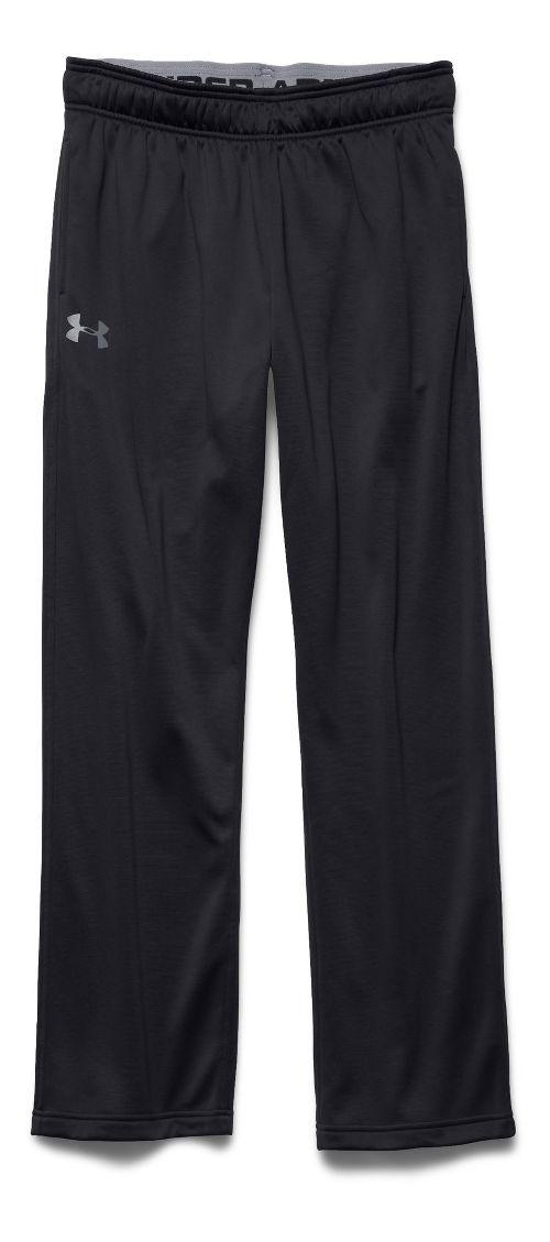 Mens Under Armour Lightweight Armour Fleece Pants - Black/Steel XLR