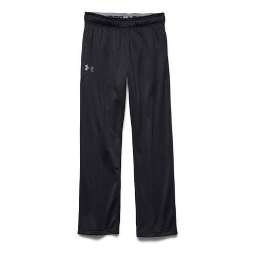 Mens Under Armour Lightweight Armour Fleece Pants - Black/Steel LR