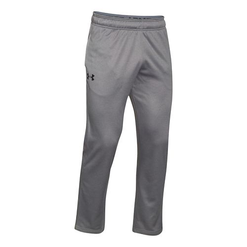 Mens Under Armour Lightweight Armour Fleece Pants - True Grey/Black SR