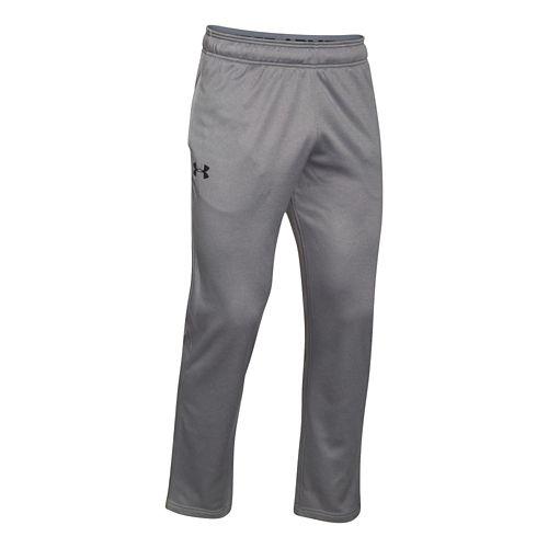 Mens Under Armour Lightweight Armour Fleece Pants - True Grey/Black XXLR