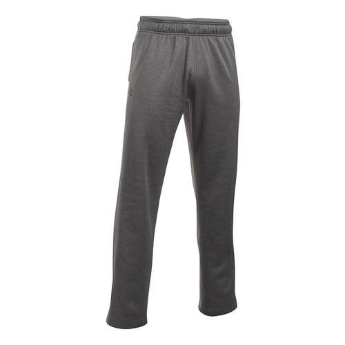 Mens Under Armour Lightweight Armour Fleece Pants - Carbon Heather XXLR