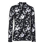 Kids Under Armour ColdGear Printed Fitted Mock Long Sleeve No Zip Technical Tops