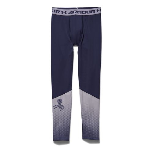 Kids Under Armour ColdGear Big Logo Fitted Legging Full Length Tights - Blue Knight YL ...