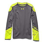 Womens Under Armour ColdGear Infrared Grid Mock Long Sleeve No Zip Technical Tops