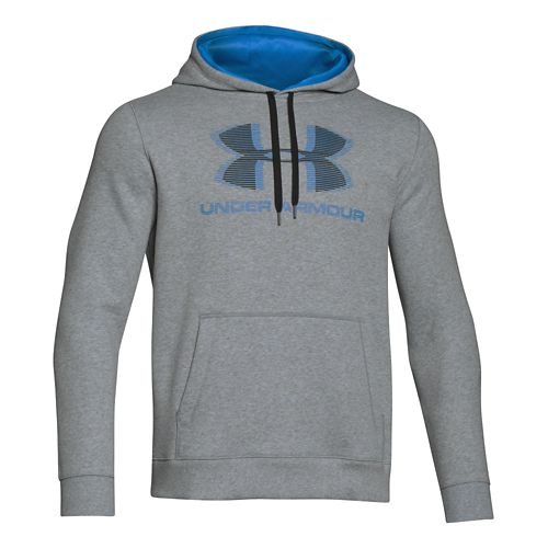 Mens Under Armour Rival Cotton Sportstyle Hoody Outerwear Jackets - True Grey/Black S