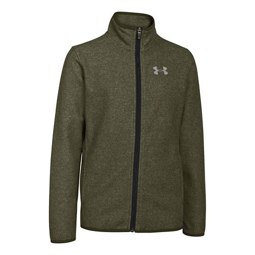 Kids Under Armour The ColdGear Infrared Survival Fleece Warm Up Hooded Jackets - ...