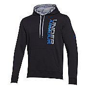 Mens Under Armour Rival Cotton Vertical Graphic Hoody Outerwear Jackets