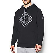 Mens Under Armour Rival Cotton Chest Camo Graphic Hoody Outerwear Jackets