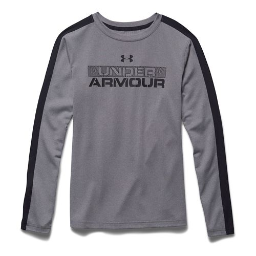 Kids Under Armour ColdGear Infrared T Long Sleeve No Zip Technical Tops - True Grey ...
