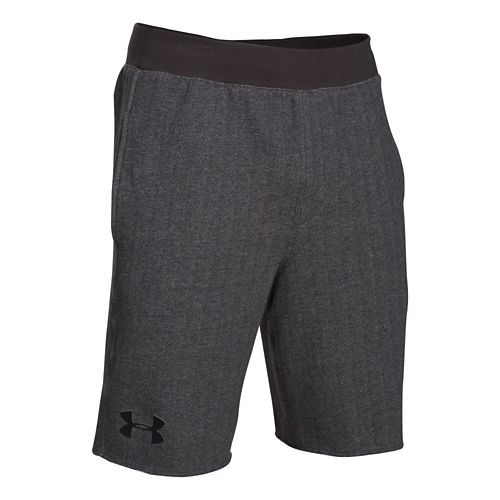 Mens Under Armour Rival Cotton Novelty Unlined Shorts - Heather/Black S