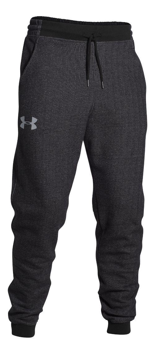 Mens Under Armour Rival Cotton Novelty Jogger Full Length Pants - Heather/Amalgam Grey S