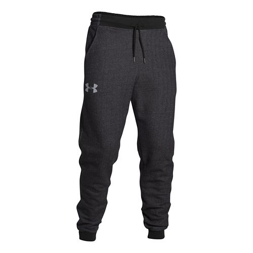 Mens Under Armour Rival Cotton Novelty Jogger Full Length Pants - Heather/Amalgam Grey M-R