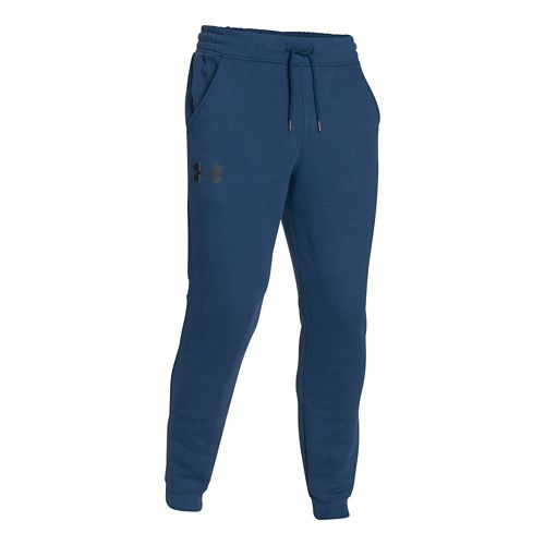 Mens Under Armour Rival Cotton Novelty Jogger Full Length Pants - Petrol Blue/Black XL-R