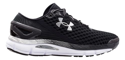 Mens Under Armour Speedform Gemini 2 Running Shoe - Black/White 7.5
