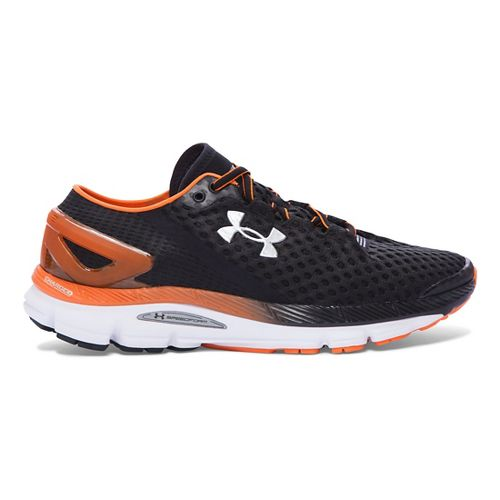 Mens Under Armour Speedform Gemini 2 Running Shoe - Black/Orange 15