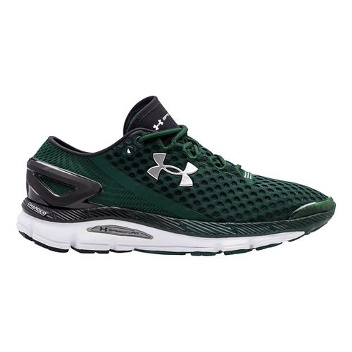 Mens Under Armour Speedform Gemini 2 Running Shoe - Forest Green/White 16