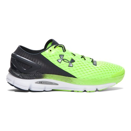 Mens Under Armour Speedform Gemini 2 Running Shoe - Fuel Green/White 15