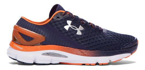 Mens Under Armour Speedform Gemini 2 Running Shoe - Navy/Orange 10