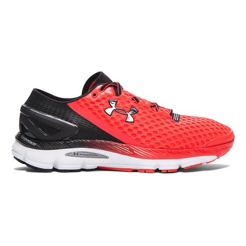 Mens Under Armour Speedform Gemini 2 Running Shoe - Rocket Red/White 10.5