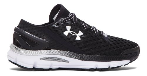 Womens Under Armour Speedform Gemini 2 Running Shoe - Black/White 11