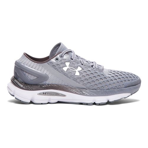 Womens Under Armour Speedform Gemini 2 Running Shoe - Steel/White 6.5