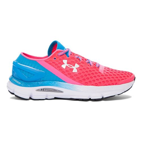 Womens Under Armour Speedform Gemini 2 Running Shoe - Harmony Red/Blue 7