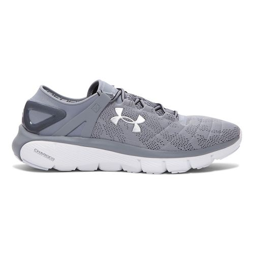 Mens Under Armour Speedform Fortis Vent Running Shoe - Steel/White 8