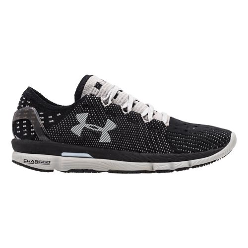 Womens Under Armour Speedform Slingshot Running Shoe - Black/Aluminum 11