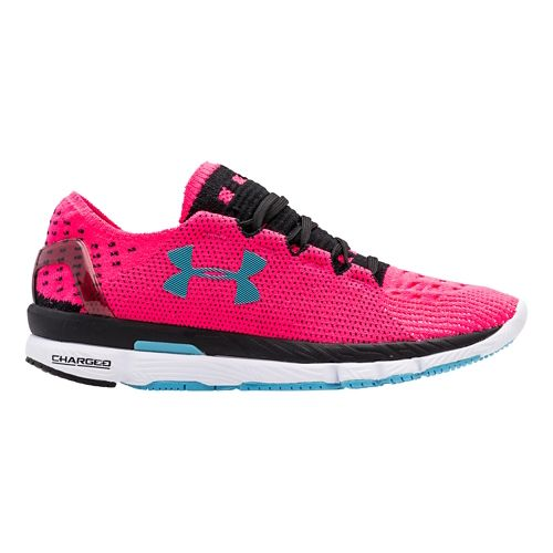 Womens Under Armour Speedform Slingshot Running Shoe - Pink/Black 10