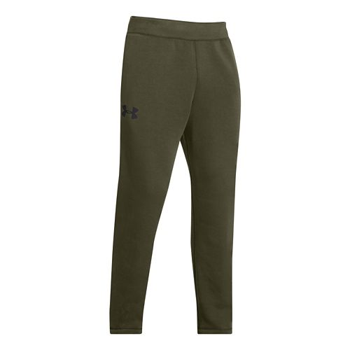 Mens Under Armour Rival Cotton Pants - Greenhead/Black MR