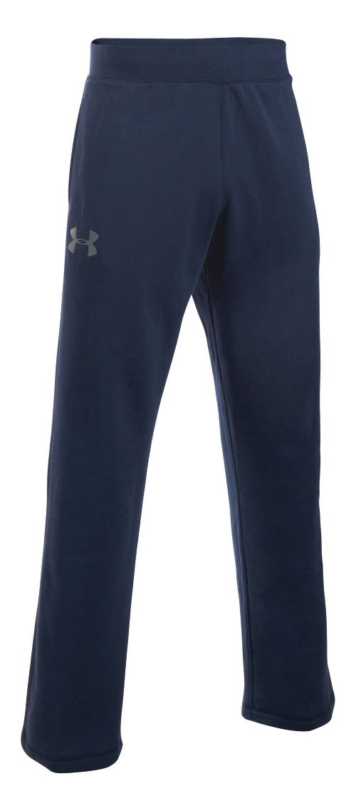 Mens Under Armour Rival Cotton Pants - Midnight Navy LR