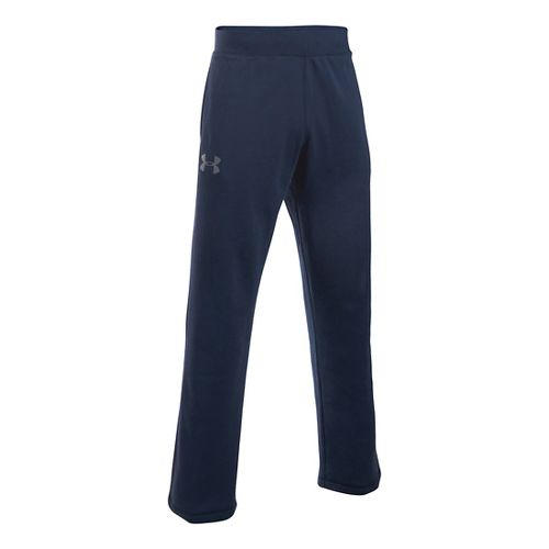 Mens Under Armour Rival Cotton Pants - Midnight Navy MR