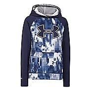 Under Armour Boys Storm Fleece Printed Big Logo Warm Up Hooded Jackets