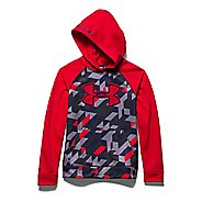 Kids Under Armour Storm Fleece Printed Big Logo Warm Up Hooded Jackets