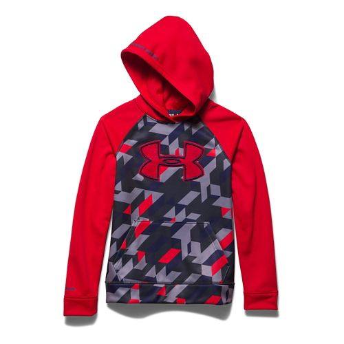 Under Armour Boys Storm Fleece Printed Big Logo Hoody Warm Up Hooded Jackets - Risk ...