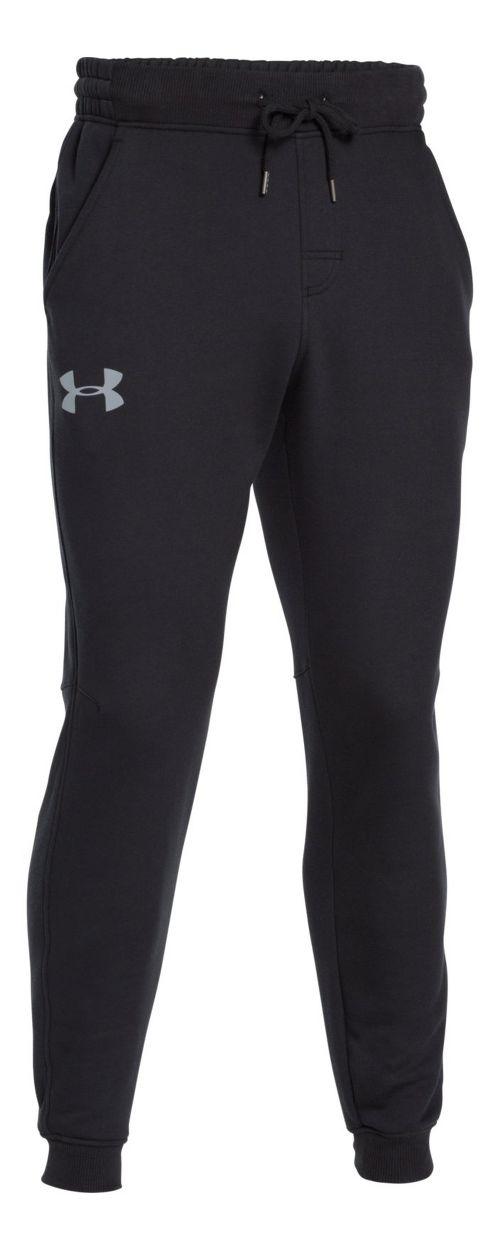 Mens Under Armour Rival Cotton Jogger Pants - Black/Steel S