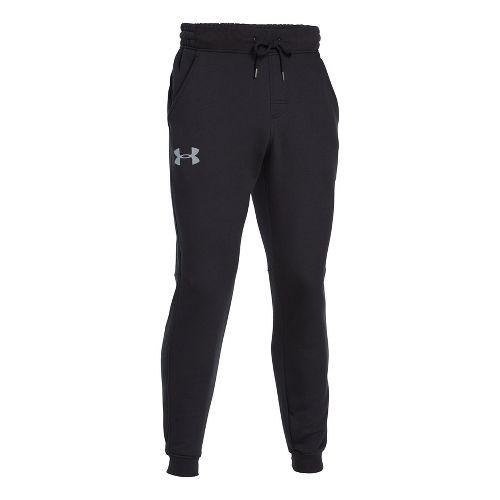 Mens Under Armour Rival Cotton Jogger Full Length Pants - Black/Steel 3XL